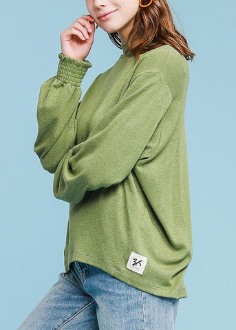 Image of Turtle Neck Olive Sweater Top