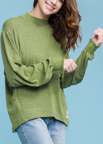 Turtle Neck Olive Sweater Top