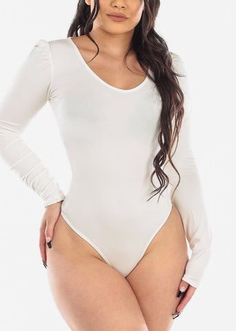 Basic Long Sleeve Ivory Bodysuit
