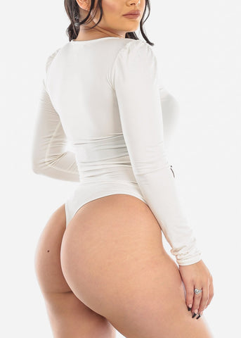 Image of Basic Long Sleeve Ivory Bodysuit
