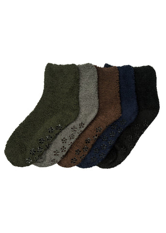 Super Soft Dark Fuzzy Socks (12 PACK)