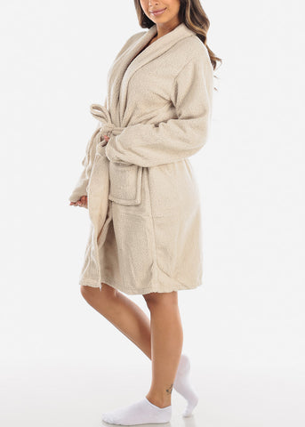 Oatmeal Fleece Robe