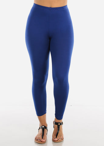 Basic Royal Blue Leggings L140BLUE