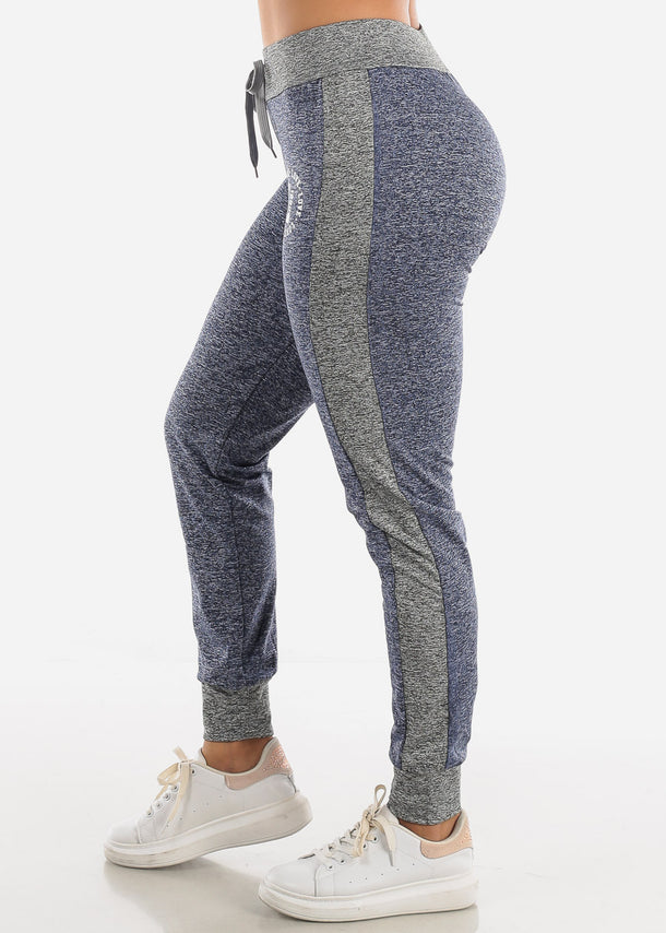 Heather Navy Fleece Drawstring Jogger