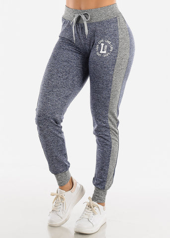 Image of Heather Navy Fleece Drawstring Jogger