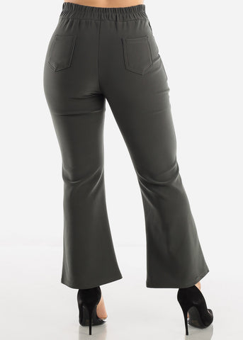 Olive Ankle Length Pants
