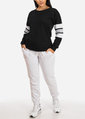 Image of Long Sleeve Black Sweatshirt
