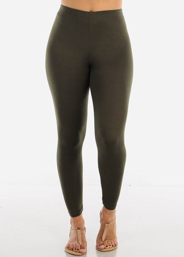 Basic Olive Leggings