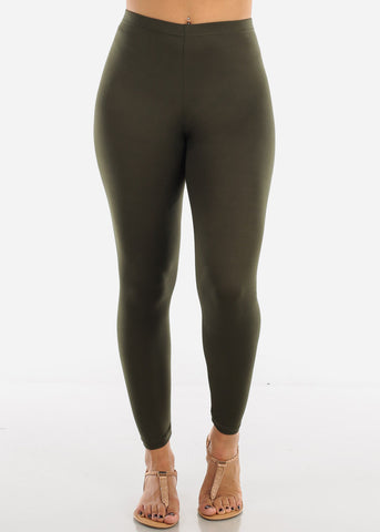 Basic Olive Leggings L140OLV