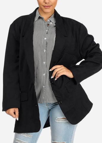 2 Button Oversized Navy BLazer