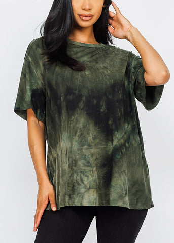 Image of Olive Oversized Top