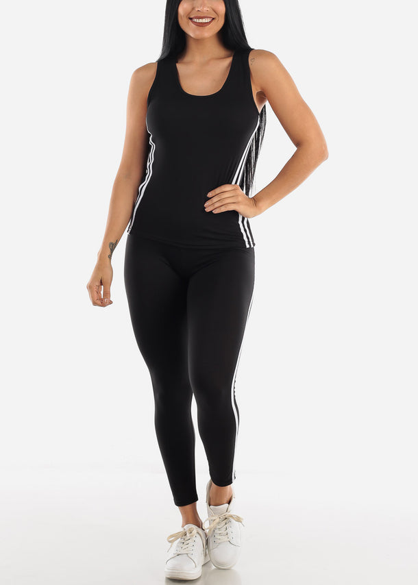 Black Activewear Set ( 2 PCE SET )