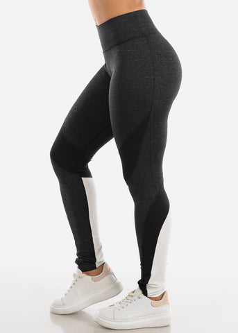 Image of Activewear Charcoal Colorblock Leggings