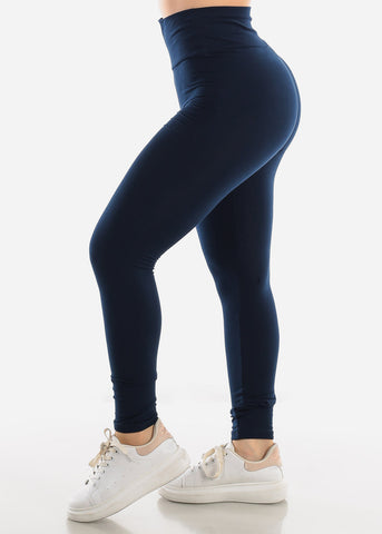 Activewear Pull On Navy Skinny Leggings