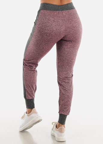 Heather Mauve Fleece Drawstring Jogger