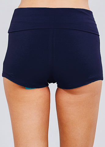 Image of High Waisted Navy Yoga Short