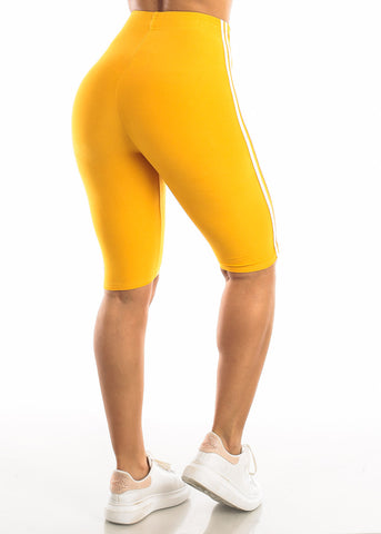 Image of Activewear Mustard Bermuda Shorts