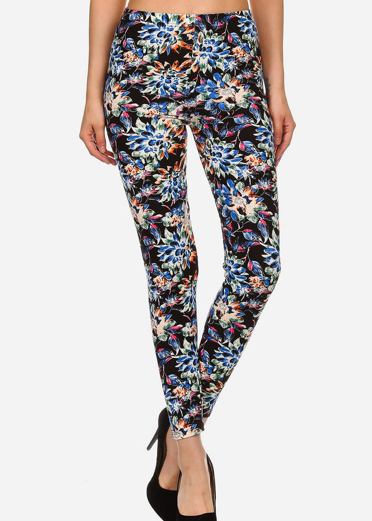 Activewear Multicolor Floral Leggings