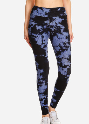 Activewear Black Tie Dye Leggings
