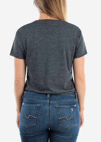 "Stone Wash Denim Crop Top ""Flawless"""