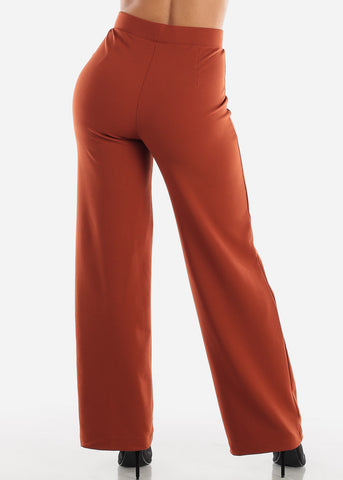 Image of Wide Legged Brick Dressy Pants