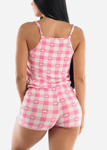 Pink Hearts Sleep Romper