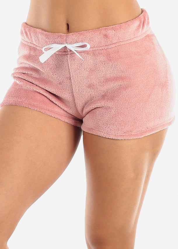 Mauve Plush Sleepwear Shorts