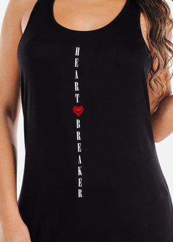"Black Tank Top ""Heart Breaker"""