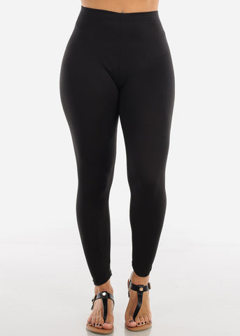 Basic Black Leggings L140BLK