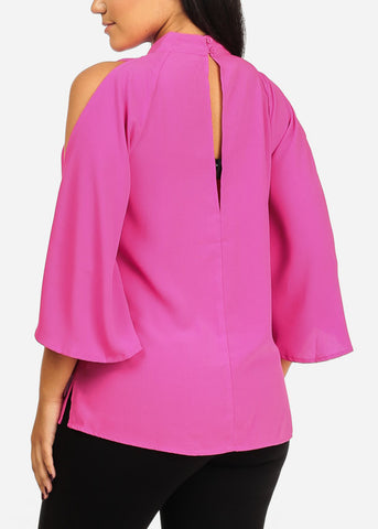 Image of Angel Sleeve Hot Pink Top