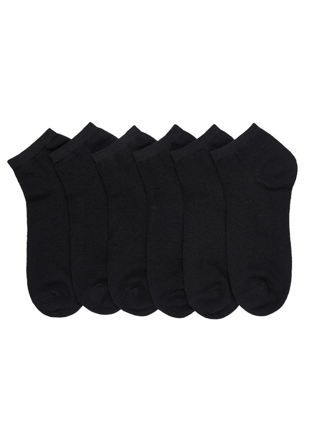 Black Ankle Socks (12 PACK)