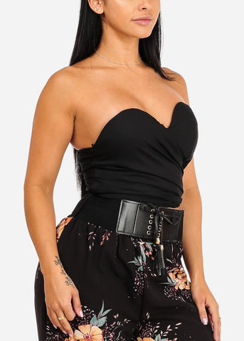 Image of Strapless Party Crop Top