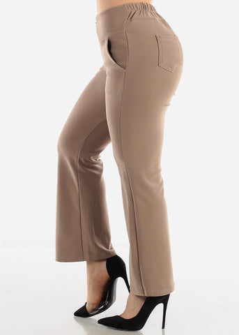 Image of Khaki Ankle Length Pants
