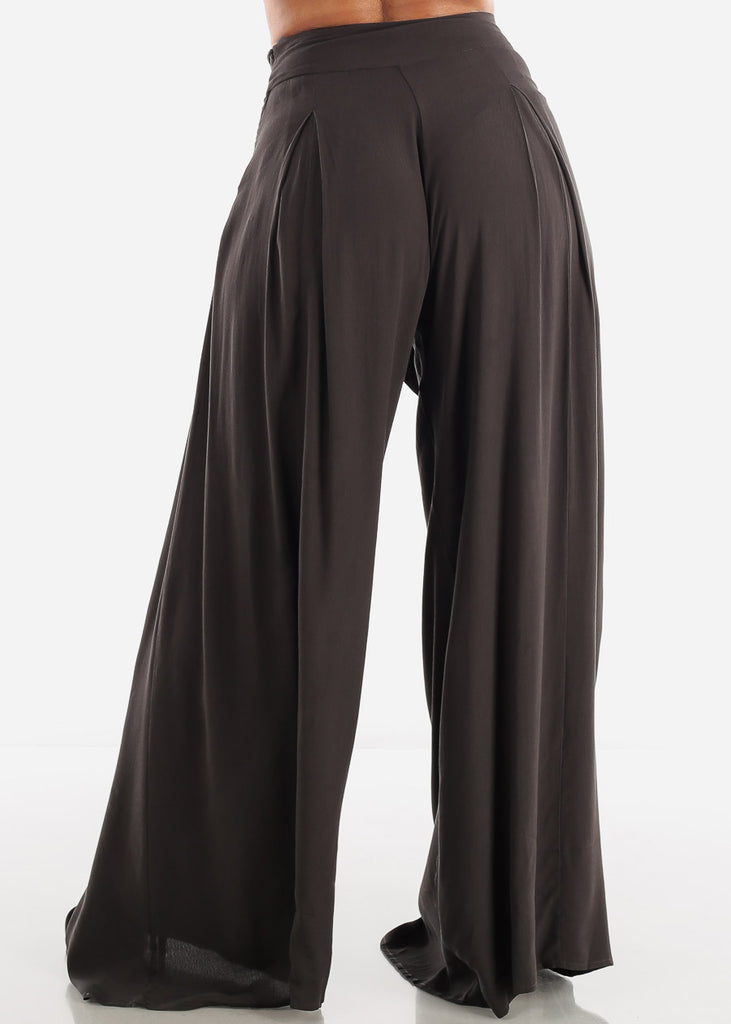 Lightweight Wide Legged Charcoal Pants