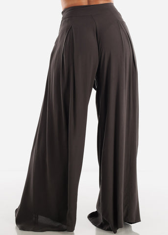 Image of Lightweight Wide Legged Charcoal Pants