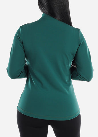 Image of Activewear Dark Green Zip Up Jacket