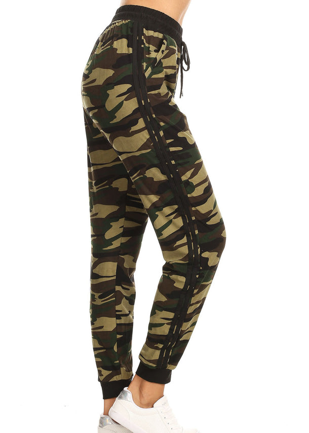 Camouflage Print Joggers