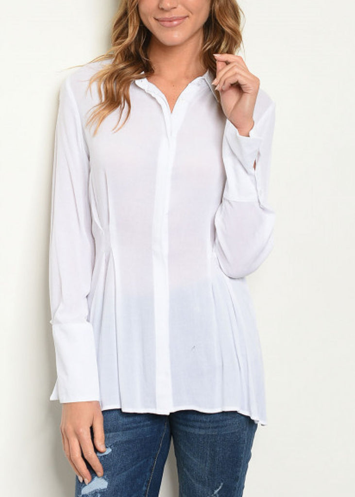 Button Up White Blouse