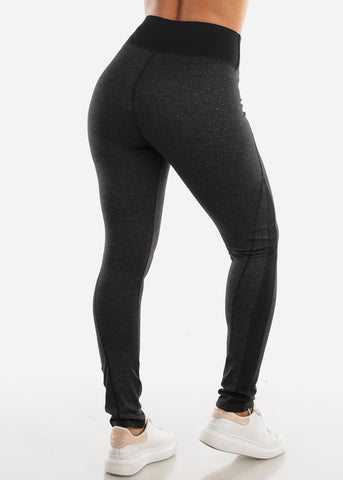 Image of Activewear High Rise Charcoal Leggings