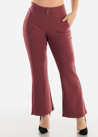 Mauve Ankle Length Pants