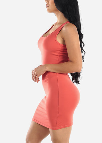 Image of Dark Mauve Bodycon Racerback Dress