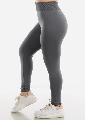 Activewear Grey Fleece Leggings