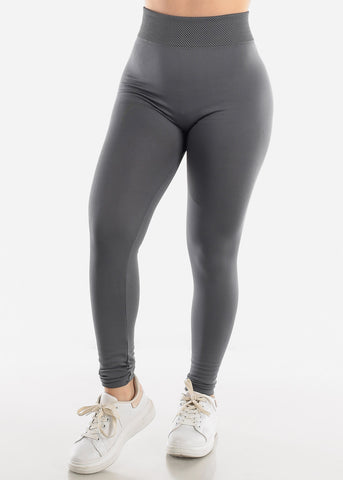 Image of Activewear Grey Fleece Leggings