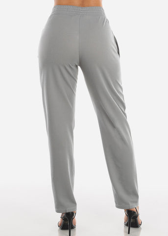 Image of Grey Straight Leg Pants