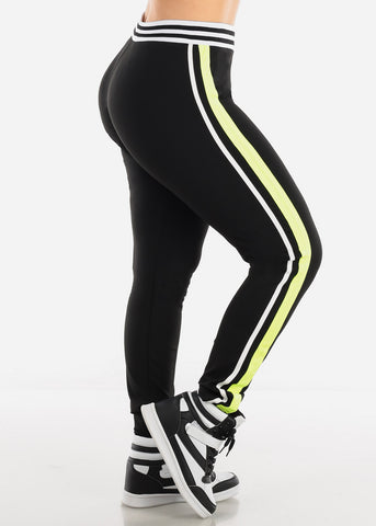 Activewear Plus Size Green & Black Pants