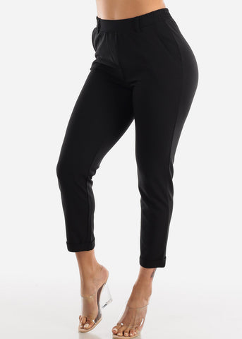 Formal Straight Leg Black Pants