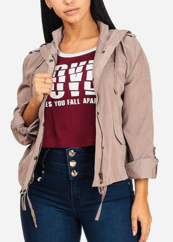 Image of Roll Up Mocha Jacket W Hood