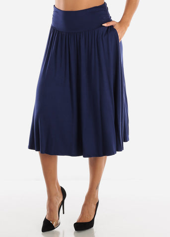 Image of Navy Multi Way Dress Or Skirt