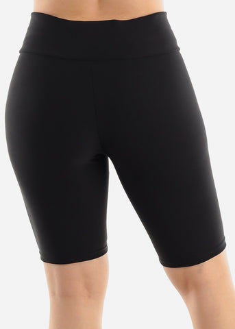 Image of Black Criss Cross Detail Shorts