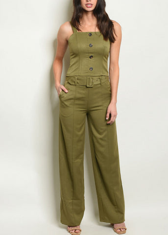 Image of Olive Top & Wide Legged Pants (2 PCE SET)